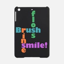 brush floss rinse smile iPad Mini Case