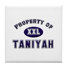 Property of taniyah Tile Coaster