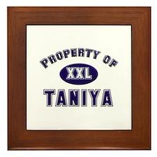 Property of taniya Framed Tile