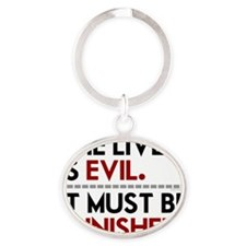 Liver Is Evil teeshirts for drinking Oval Keychain