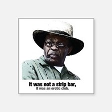 "2-MarionBarry Square Sticker 3"" x 3"""