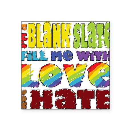"Pride t-shirt - Blank Slate Square Sticker 3"" x 3"""