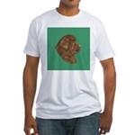 Bronze Newfoundland Fitted T-Shirt