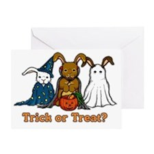 Halloween Rabbits Greeting Card
