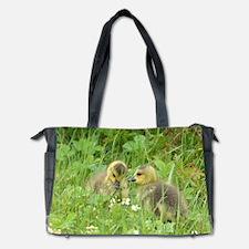Goslings in clover Diaper Bag
