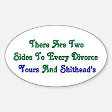Divorce Oval Decal