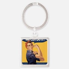 we-can-do-it_sb Square Keychain