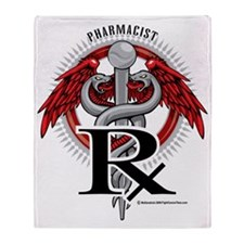 Pharmacist-Caduceus Throw Blanket