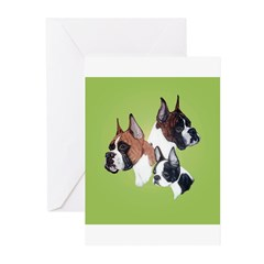 2 Boxers and a Boston Greeting Cards (Pk of 10