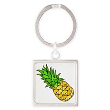 Psych - Pineapple.gif Square Keychain