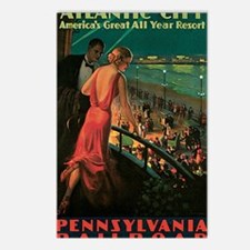 Atlantic City Pennsylvani Postcards (Package of 8)