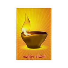 Diwali_1 Rectangle Magnet