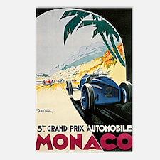 Monaco 5th Grand Prix Aut Postcards (Package of 8)