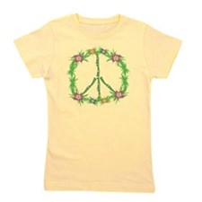 Tropical Peace Sign Girl's Tee