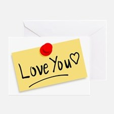Note of Love Greeting Card