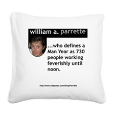 ManYear Square Canvas Pillow