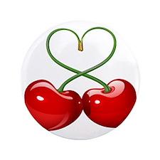 """Cherry Love 3.5"""" Button"""