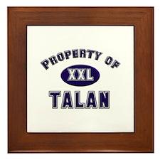 Property of talan Framed Tile