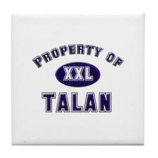 Property of talan Tile Coaster