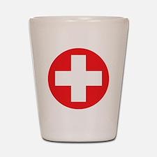 red cross Shot Glass