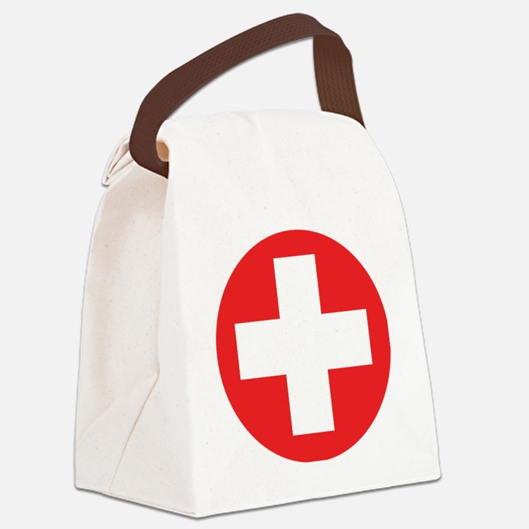 red cross Canvas Lunch Bag