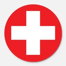 red cross Round Car Magnet