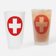 red cross Drinking Glass