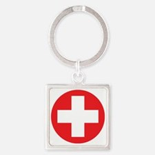 red cross Square Keychain