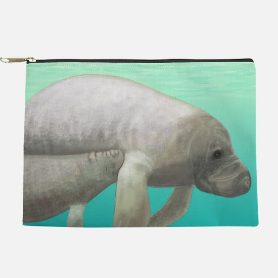 Manatee and Calf Makeup Pouch