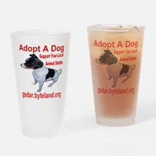 adoptadog_transparent Drinking Glass