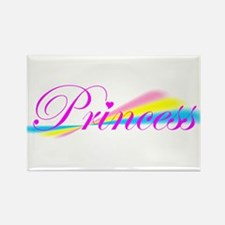 Rainbow Princess Rectangle Magnet