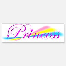 Rainbow Princess Bumper Bumper Bumper Sticker