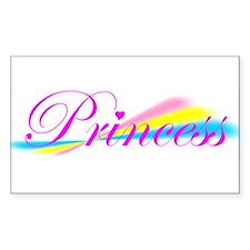 Rainbow Princess Rectangle Decal