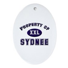 Property of sydnee Oval Ornament