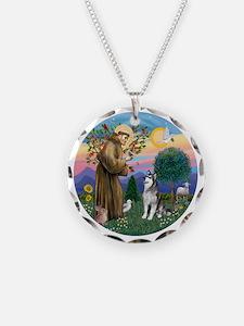 St Francis (R) - Alaskan Mal Necklace
