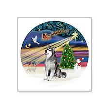 "Xmas Magic (R) - Alaskan Ma Square Sticker 3"" x 3"""