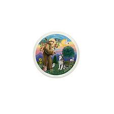 St Francis (R) - Alaskan Malamute Mini Button