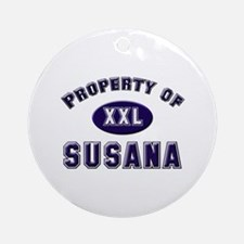 Property of susana Ornament (Round)