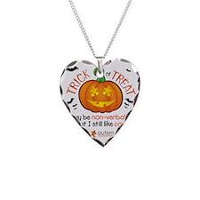 halloween1-non-verbal Necklace Heart Charm
