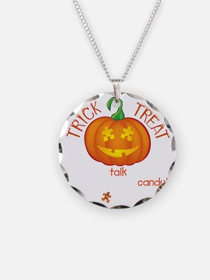 halloween1-talk-onblk Necklace Circle Charm