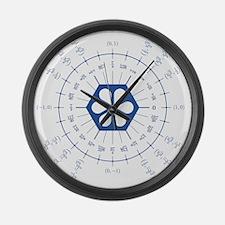 hb-tau-circle Large Wall Clock