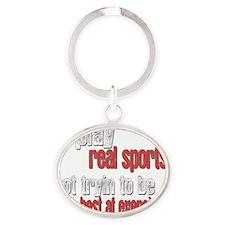 realsports-alt2 Oval Keychain