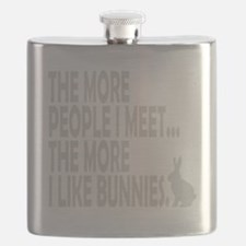 THE MORE I LIKE BUNNIES 1 CLEAR BK copy Flask