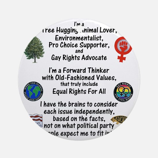 independent_thinker_2d_trans Round Ornament