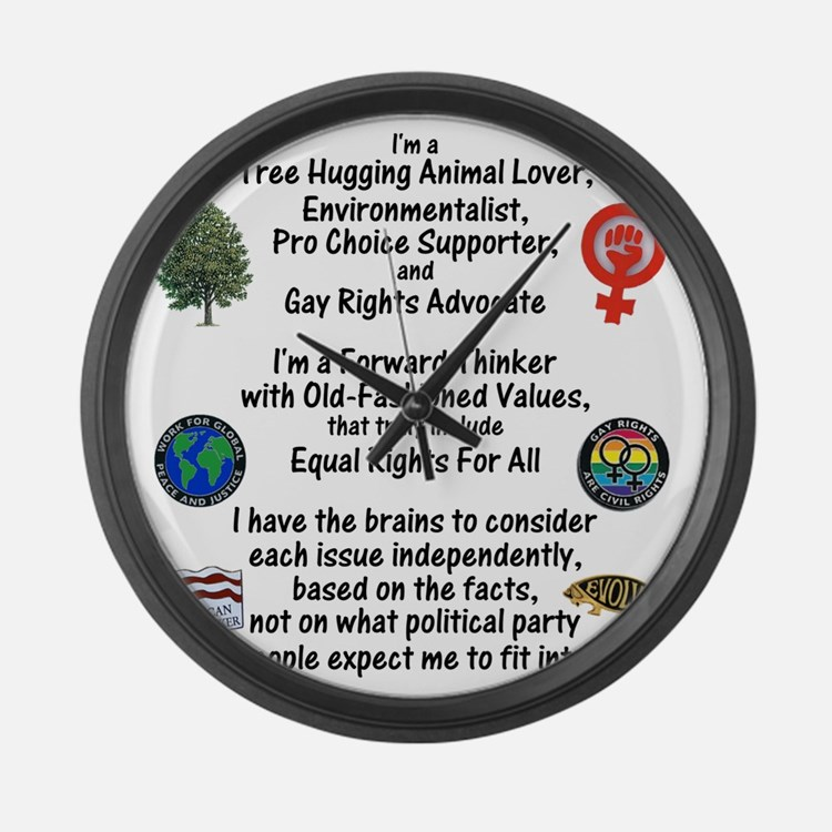 independent_thinker_2d_trans Large Wall Clock