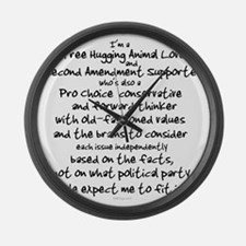 independent_thinker_1_trans Large Wall Clock
