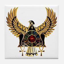 egyptianonwhite Tile Coaster