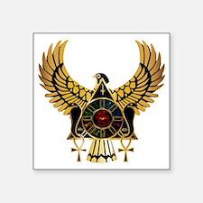 """egyptianonwhite Square Sticker 3"""" x 3"""""""