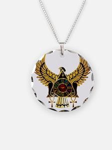 egyptianonwhite Necklace Circle Charm