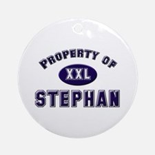 Property of stephan Ornament (Round)